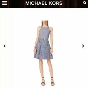 Michael Kors Checked Belt Dress size 0